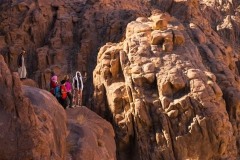 Hiking desert and mountains of the Sinai Trail in Egypt